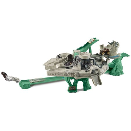 - Hot Wheels Star Wars Millennium Falcon Character Car Track Set