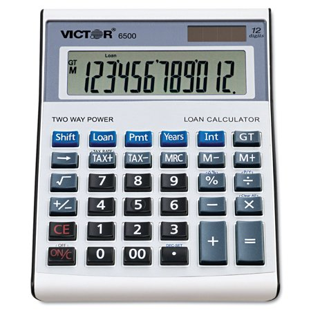 Victor 6500 Executive Desktop Loan Calculator  12 Digit Lcd