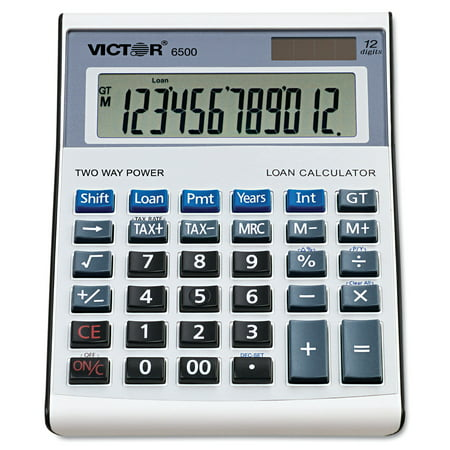 Victor 6500 Executive Desktop Loan Calculator, 12-Digit
