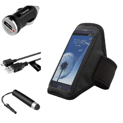 Insten Black Gym Sport Running Armband Case for Samsung Galaxy S5 Mini S3 S4 HTC one M7 LG Nexus 5