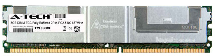 8GB Module PC2-5300 667MHz 2Rx4 ECC Fully Buffered DDR2 DIMM Server 240-pin Memory Ram