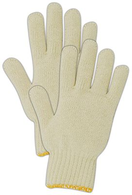 Magid Glove & Safety Mfg 93T12 Utility Work Gloves, White Cotton Knit, Large, 12-Pk.