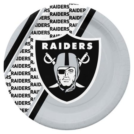 Oakland Raiders Disposable Paper Plates - Oakland Raiders Party Supplies