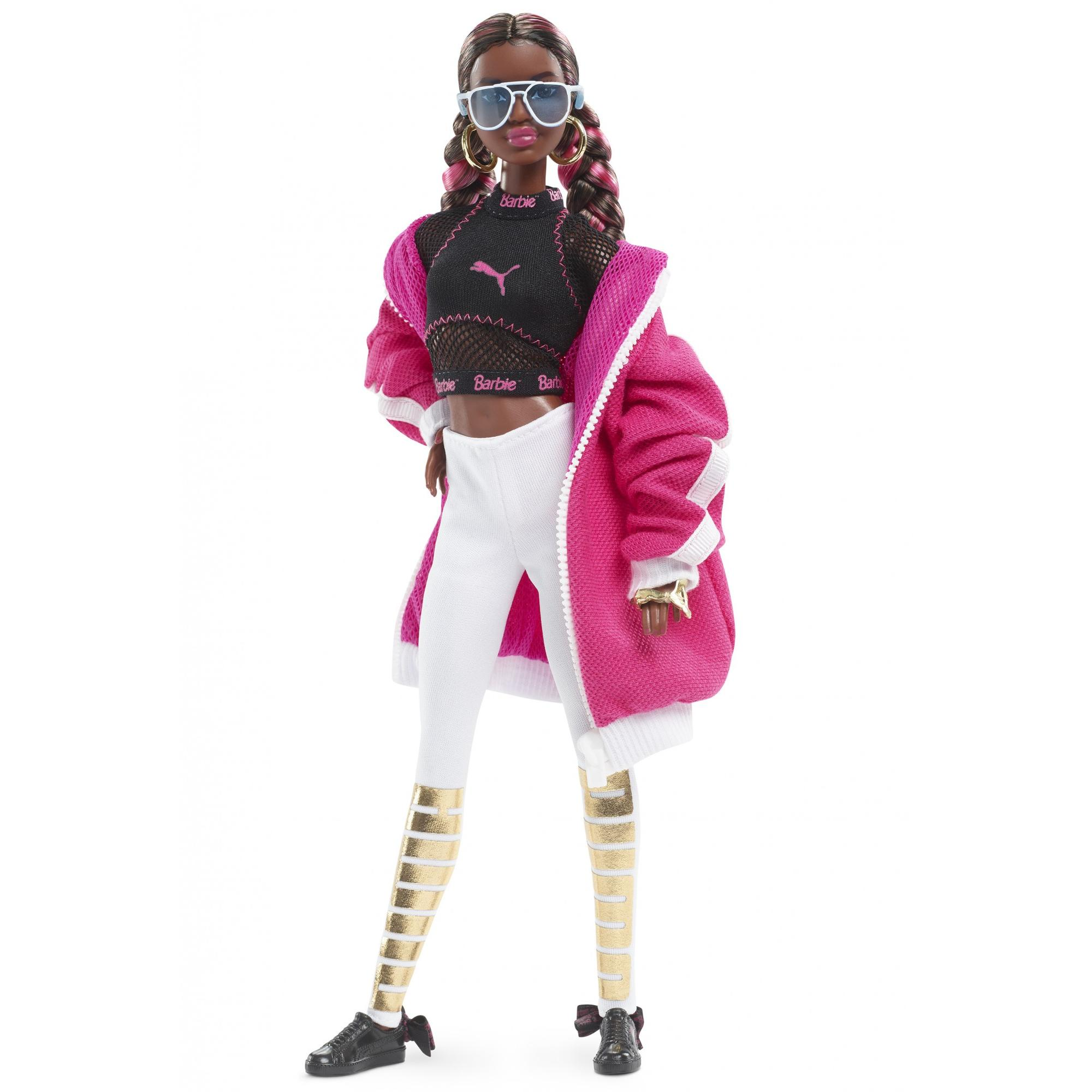Barbie Puma 50th Anniversary Sporty Fashion Doll, Pink Jacket