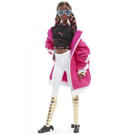 PUMA 50th Anniversary Barbie Sporty Fashion Doll, Pink Jacket