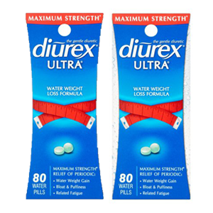 (2 Pack) Diurex Ultra Water Weight Loss Formula Water Pills for Reducing Bloating & Swelling, 80