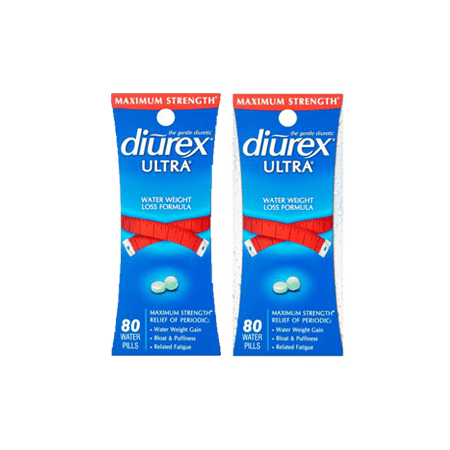 - (2 Pack) Diurex Ultra Water Weight Loss Formula Water Pills for Reducing Bloating & Swelling, 80 Ct
