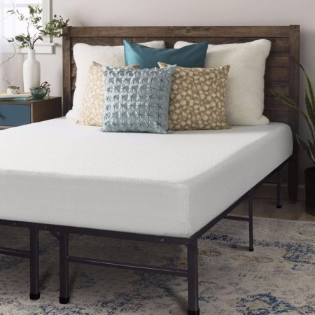 Crown Comfort King size Memory Foam Mattress 8 inch with Bed Frame ...