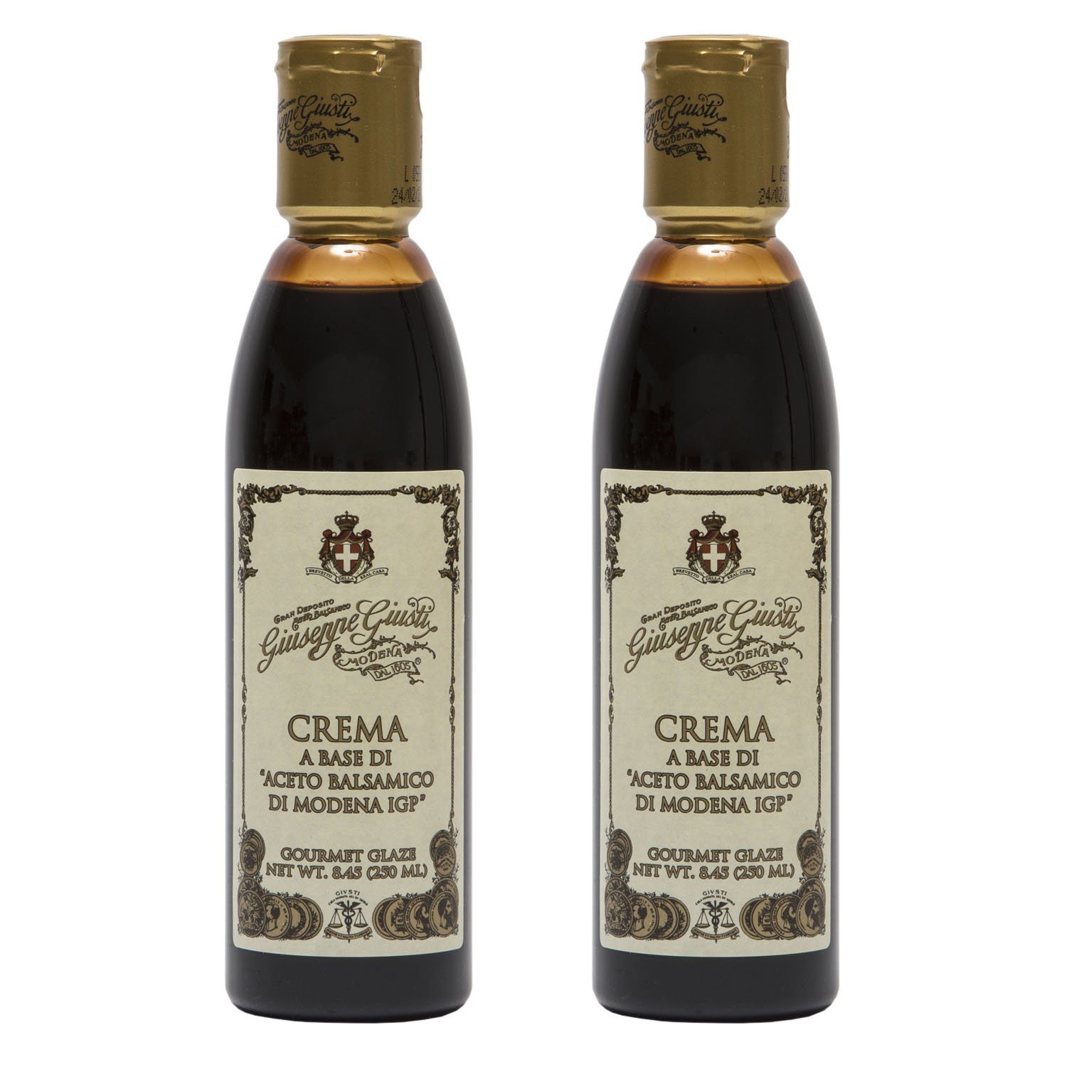 Giuseppe Giusti Italian Crema Balsamic Glaze Vinegar Reduction Of Modena Igp 8 45 Fl Oz 250ml Pack Of 2 Walmart Com Walmart Com