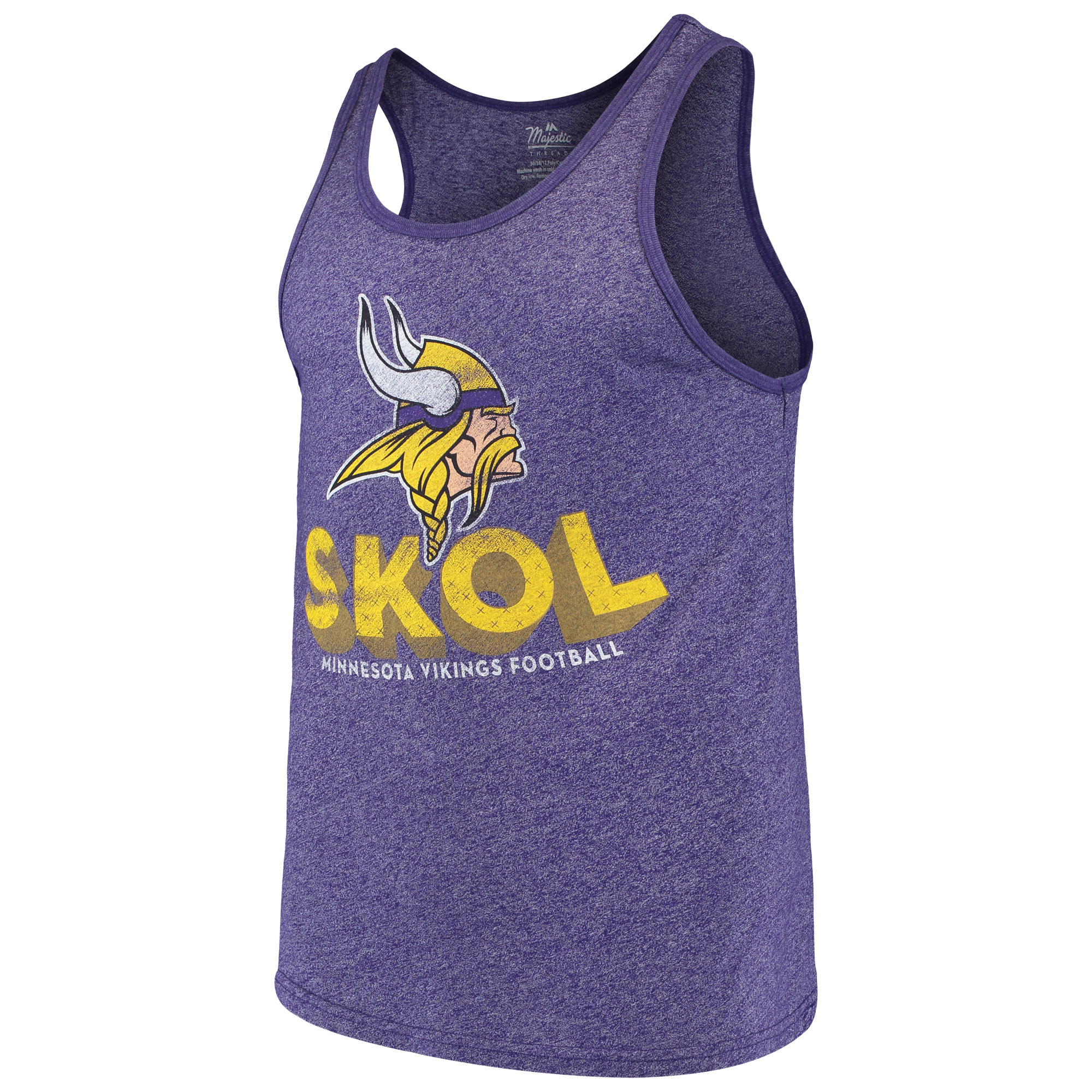 Minnesota Vikings Majestic Threads Slogan Tri-Blend Tank Top - Purple