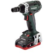METABO Cordless Impact Wrench,3.1Ah,155 ft.-lb. SSW18 LTX 200 2x 3.1Ah LiHD kit