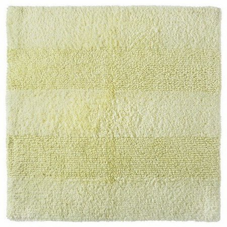 Nate Berkus Cotton Bath Rug Pale Moondust Yellow Plush Accent Mat 24x24 Squar