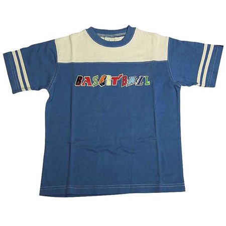 Dogwood Little Boys Short Sleeve Screen Print 100% Cotton T - Shirt Tops, 11612 blue / 4