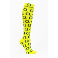 Oregon Ducks Dress Yellow/Green Sock