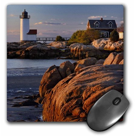 3dRose Annisquam Lighthouse, Ipswitch Bay, Massachusetts - US22 AJE0063 - Adam Jones, Mouse Pad, 8 by 8 inches