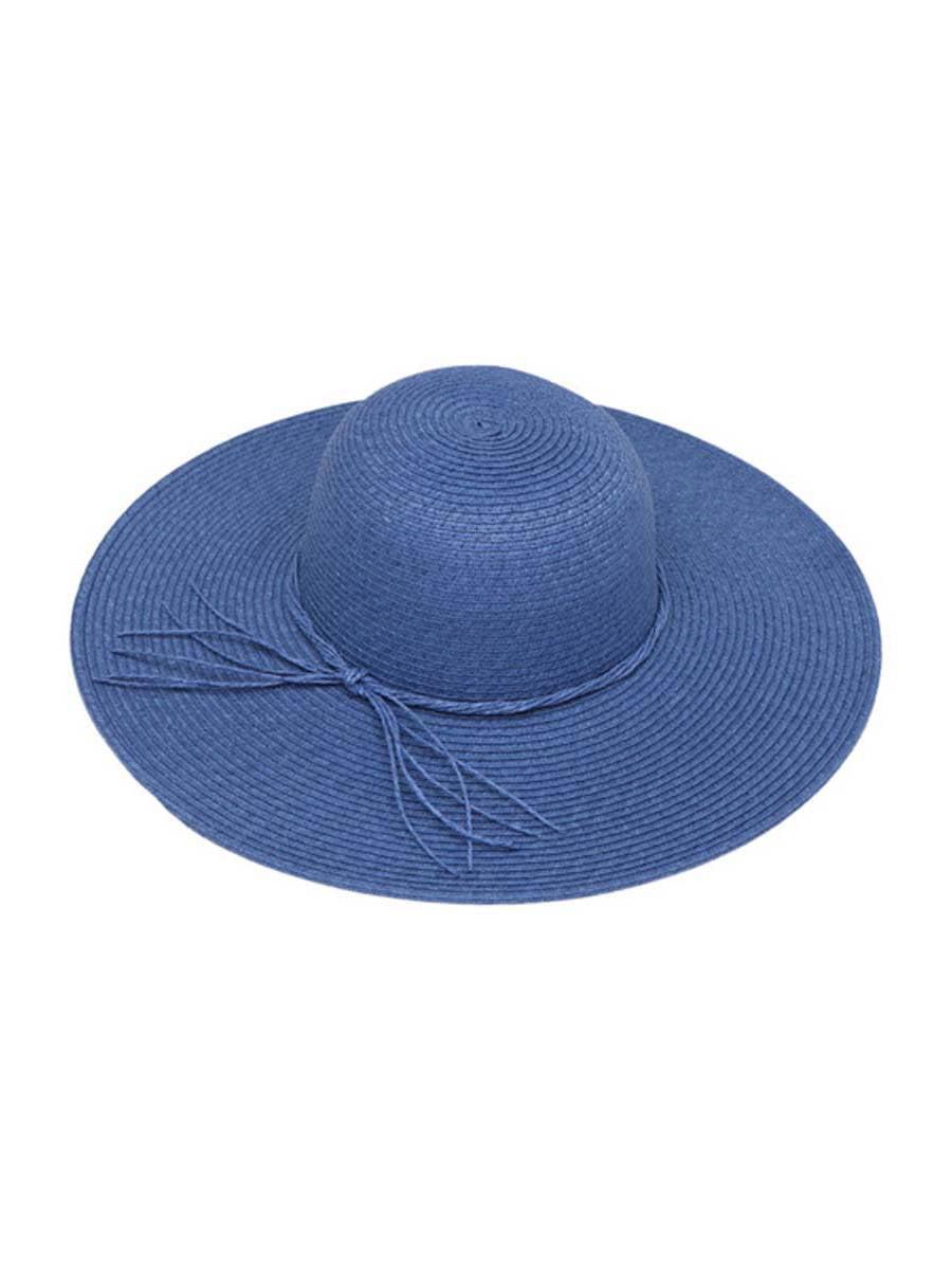 Womens Straw Wide Brim Floppy Sun Hat w  String Band - White 5431203dcd1