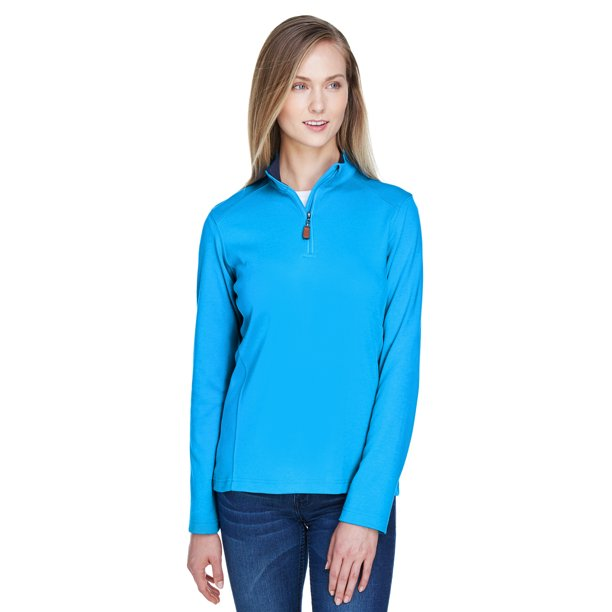 A Product of Devon & Jones Ladies' DRYTEC20™ Performance Quarter-Zip - OC BL/ NV/ OC BL - S [Saving and Discount on bulk, Code Christo]