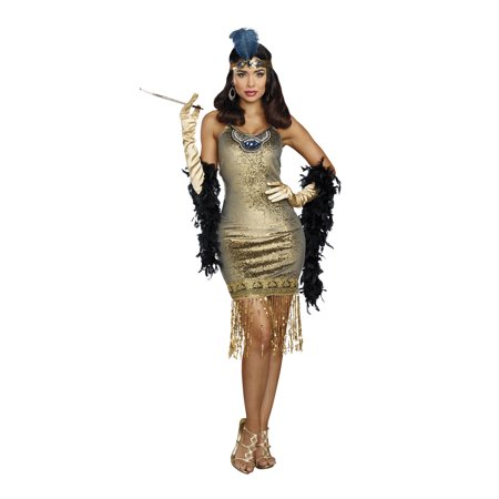 Dreamgirl Women's 1920's Golden Girl Flapper Costume (Halloween 1920)