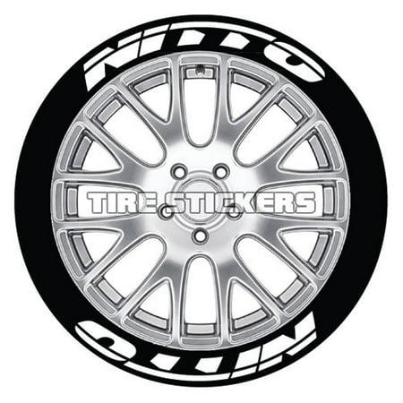 NITTO Tire Stickers - White - 1.25