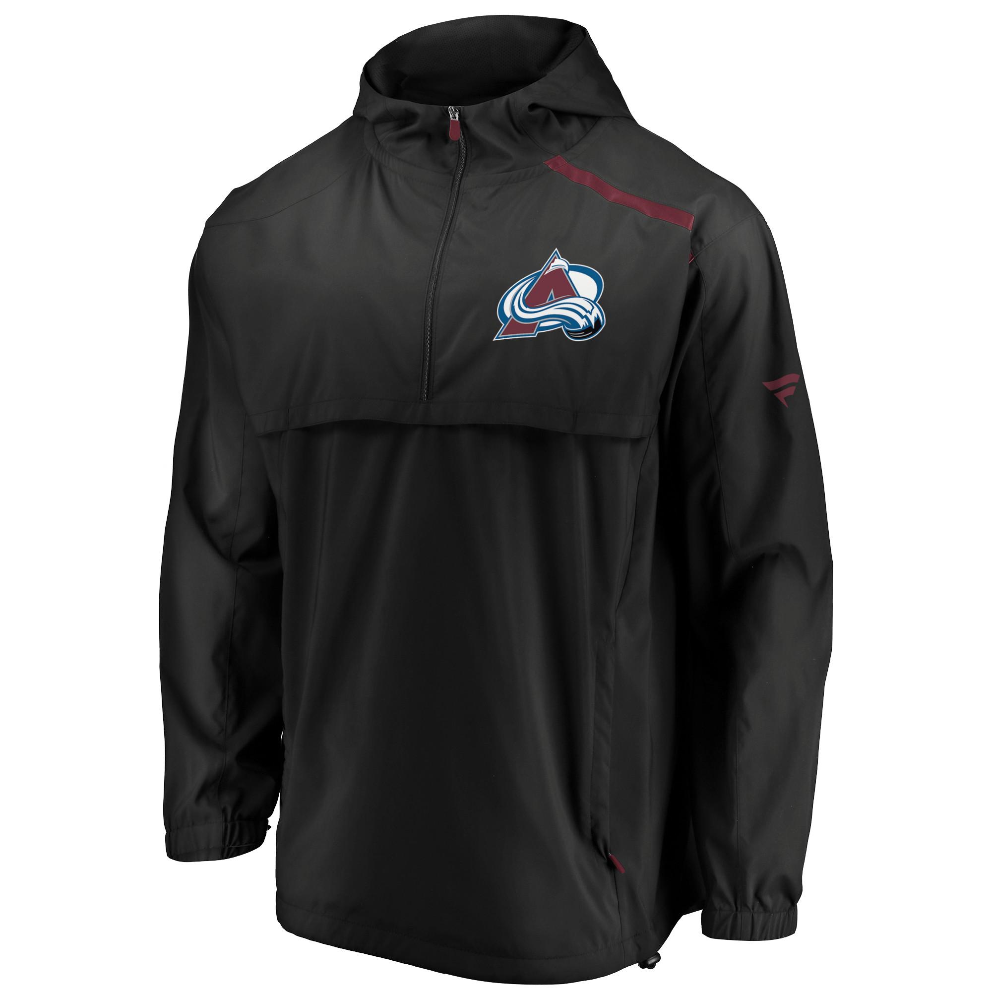 4db767085da Colorado Avalanche Fanatics Branded Authentic Pro Rinkside Anorak 1 4-Zip  Jacket - Black - Walmart.com