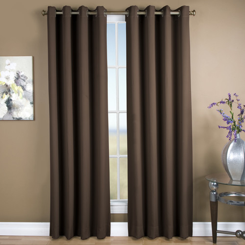 Ricardo Trading Ultimate Solid Blackout Grommet Single Curtain Panel