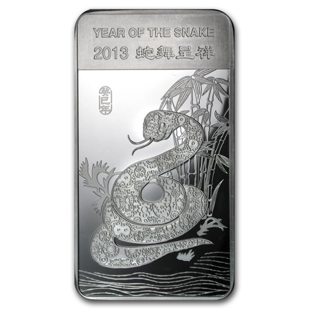 10 oz Silver Bar - APMEX (2013 Year of the Snake) (2013 Year Of The Snake Silver Proof Coins)