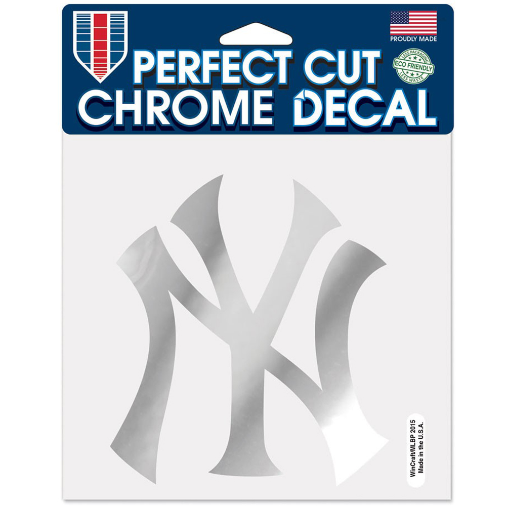 """New York Yankees WinCraft 6"""" x 6"""" Chrome Decal - No Size"""