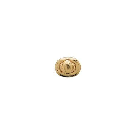 Tandy Leather Bag Clasp Small Oval Brass Plated 1301-01