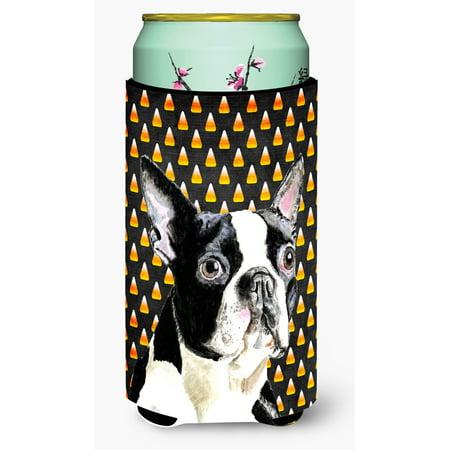 Boston Terrier Candy Corn Halloween Portrait Ultra Beverage Insulators for slim cans SC9171MUK - Halloween Events In Boston