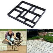 JAXPETY Stepping Stone Path Maker Grid Driveway Paving Pavement Mold Concrete Stone Mold Walk Maker New,Black