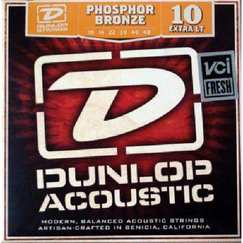 Dunlop DAP1048 Phosphor Light Acoustic Guitar Strings, 6-String Set