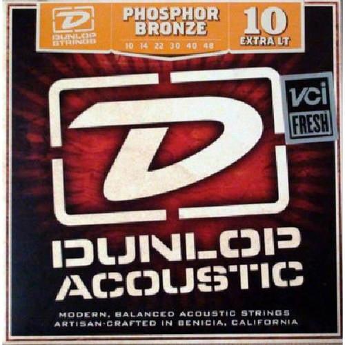 Dunlop DAP1048 Phosphor Light Acoustic Guitar Strings, 6-String Set
