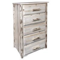 Montana Collection 5 Drawer Chest of Drawers, Ready to Finish