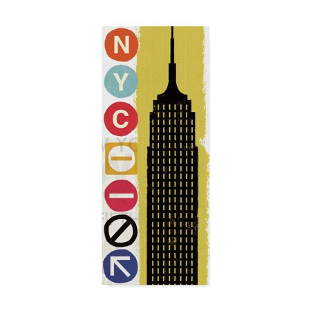 New York City Fine Art (Trademark Fine Art 'New York City Life Empire' Canvas Art by Michael Mullan)