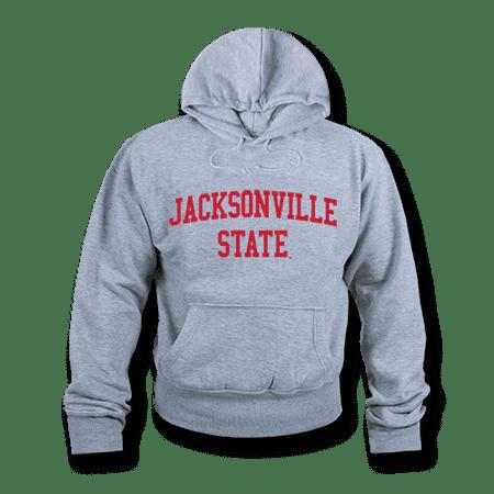 NCAA Jacksonville State University Hoodie Sweatshirt GameDay Fleece Heather Grey Small (Michigan State University Fleece)