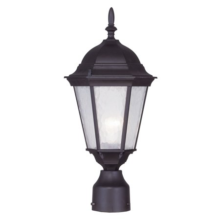 Livex Lighting Hamilton 1 Light Outdoor Post Lantern (Aluminum Large Post Lantern)