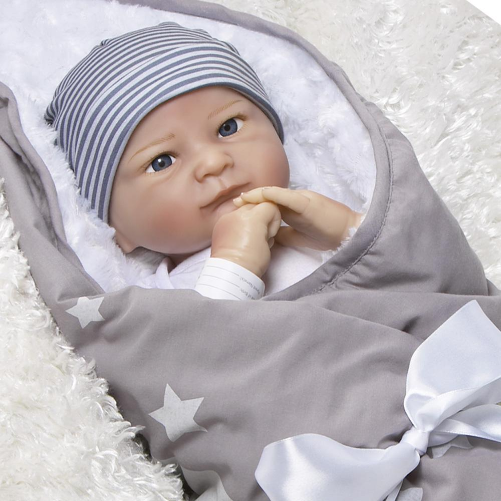 "Paradise Galleries Lifelike Realistic Soft Vinyl Weighted 19 inch Baby Girl Doll Gift ""Baby Bundles: Never Grow Up"" Great to Reborn"