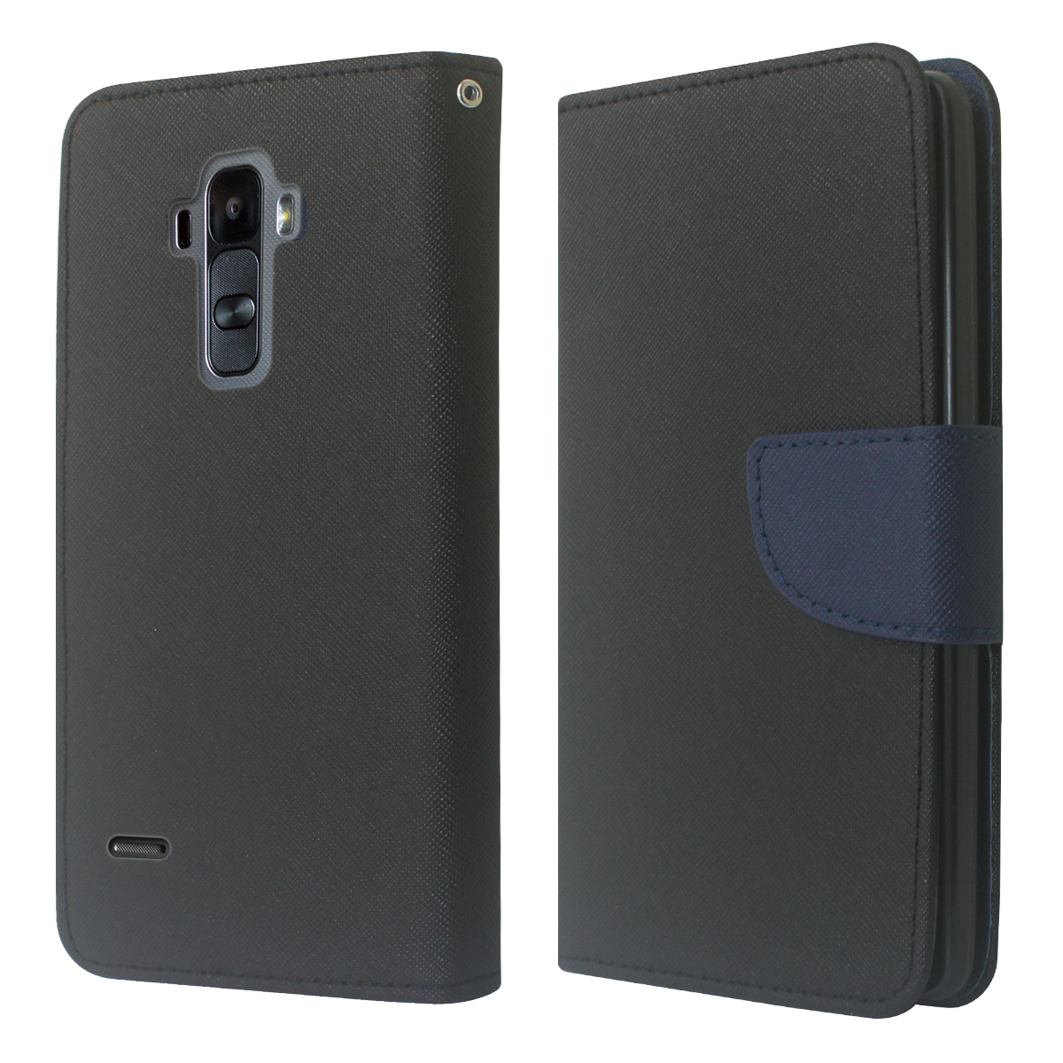 Cbus Wireless Luxury PU Leather Flip Wallet Cover Case with Credit Card Holder for LG G Stylo - Black