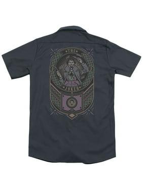Batman Joker Checkered Sign (Back Print) Mens Work Shirt