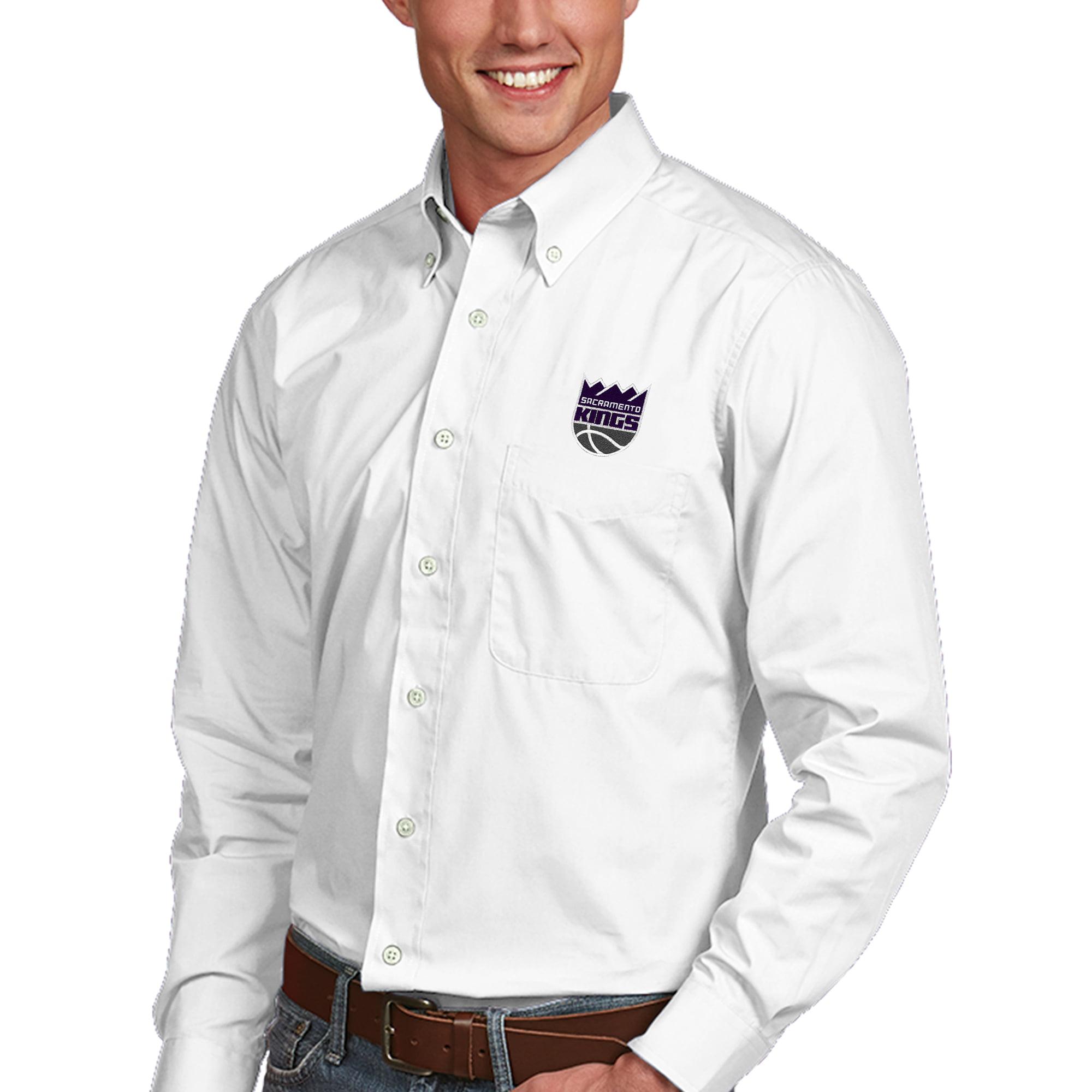 Sacramento Kings Antigua Dynasty Button-Down Long Sleeve Shirt - White