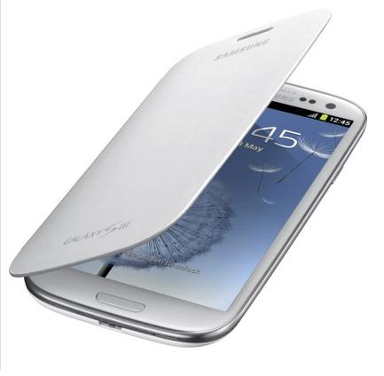 OEM Samsung Galaxy S3 Flip Cover Case (Marble White)