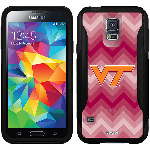 Virginia Tech Lined Chevron Design on OtterBox Commuter Series Case for Samsung Galaxy S5