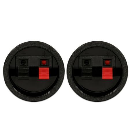 2 Goldwood Sound SCT-900R Round Power Terminal Plates Spring Loaded Speaker Terminals ()