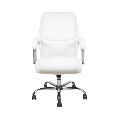 Scranton & Co Ergonomic High Back Leather Office Chair in White - image 2 of 5