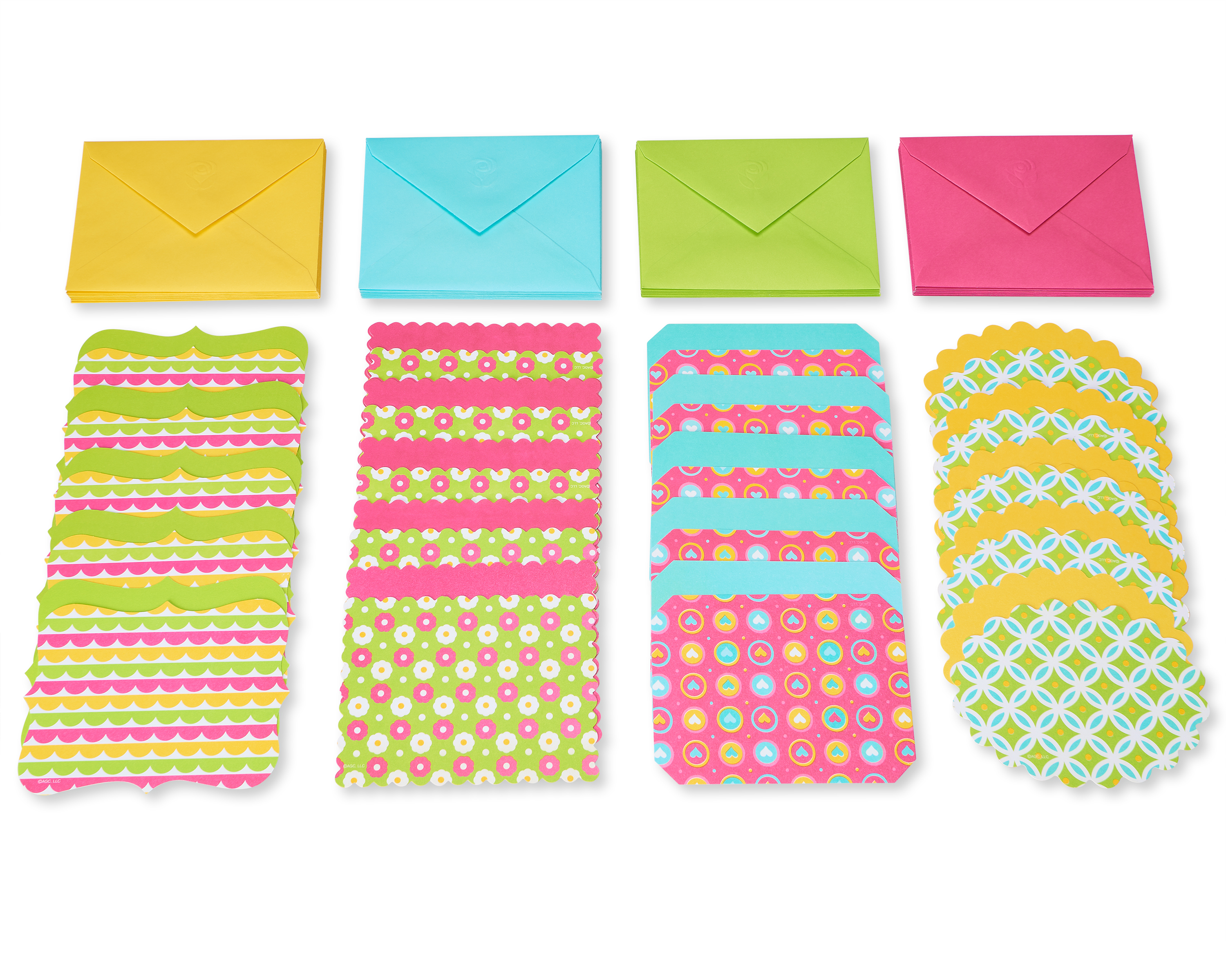 American Greetings Patterned Blank Note Cards And Envelopes