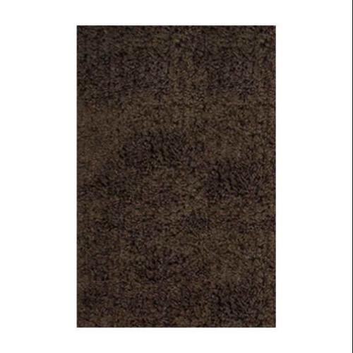Lifestyle Design 100 Percent Natural Wool Rug, Dark Brown and Green, 5' x 8'