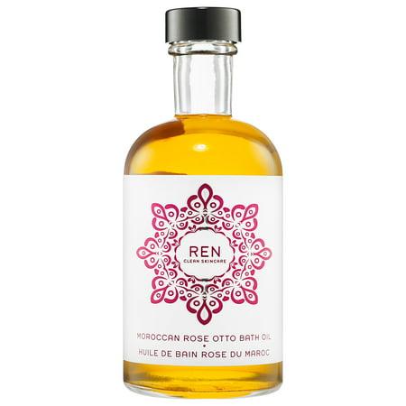 REN Moroccan Rose Otto Bath Oil, 4.08 Oz