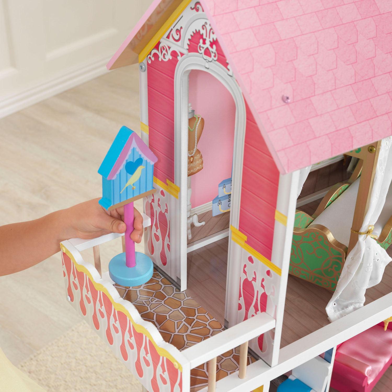 KidKraft Sweet Savannah Wooden Pretend Play House Doll Dollhouse w// Furniture