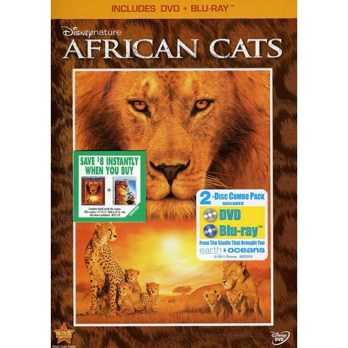 DISNEYNATURE-AFRICAN CATS (DVD/BLU-RAY/2 DISC/WS) DVD PKG