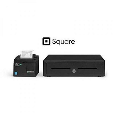 Square And Shopify Pos Hardware Bundle   Star Micronics Tsp143iiilan 39464910 Ethernet  Lan  Printer And Cash Drawer